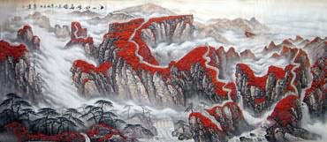 Chinese Great Wall Painting,140cm x 360cm,1086015-x