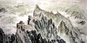 Chinese Great Wall Painting,120cm x 240cm,1099001-x