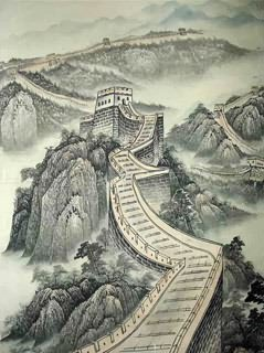 Chinese Great Wall Painting,50cm x 33cm,1336001-x