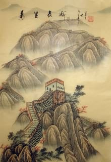 Chinese Great Wall Painting,40cm x 60cm,1336006-x