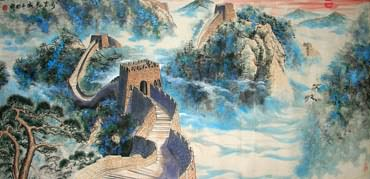 Chinese Great Wall Painting,80cm x 180cm,1695001-x