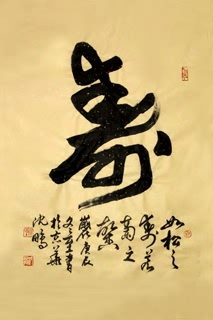 Chinese Health Calligraphy,60cm x 97cm,5999001-x