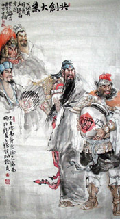 Chinese History & Folklore Painting,97cm x 180cm,3447011-x