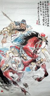 Chinese History & Folklore Painting,69cm x 138cm,3447012-x