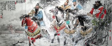 Chinese History & Folklore Painting,96cm x 240cm,3447062-x