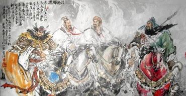 Chinese History & Folklore Painting,69cm x 138cm,3447068-x