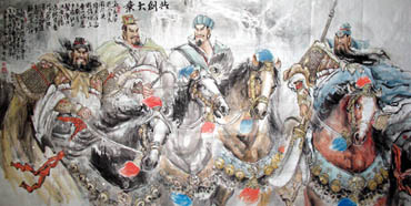 Chinese History & Folklore Painting,120cm x 240cm,3447072-x