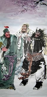Chinese History & Folklore Painting,66cm x 136cm,3534001-x