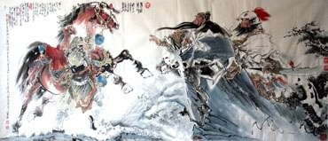 Chinese History & Folklore Painting,96cm x 240cm,3706005-x