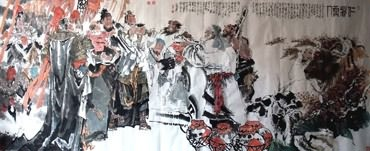 Chinese History & Folklore Painting,140cm x 360cm,3706006-x