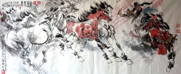 Chinese History & Folklore Painting,70cm x 180cm,3706007-x