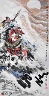 Chinese History & Folklore Painting,66cm x 136cm,3706008-x
