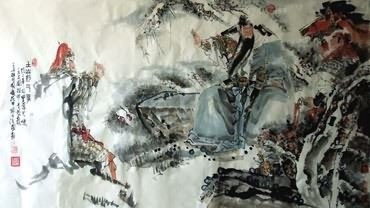 Chinese History & Folklore Painting,97cm x 180cm,3706010-x