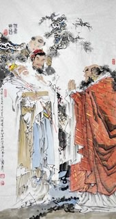 Chinese History & Folklore Painting,97cm x 180cm,3706011-x