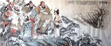Chinese History & Folklore Painting,96cm x 240cm,3706012-x