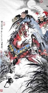Chinese History & Folklore Painting,66cm x 136cm,3706013-x