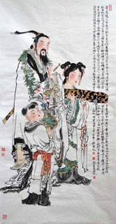 Chinese History & Folklore Painting,66cm x 136cm,3776050-x