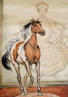 Chinese Horse Painting,65cm x 90cm,4460010-x