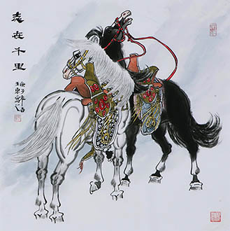 Chinese Horse Painting,68cm x 68cm,4671021-x