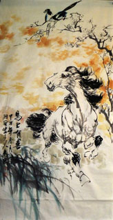Chinese Horse Painting,68cm x 136cm,4695065-x