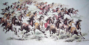 Chinese Horse Painting,120cm x 240cm,4731072-x