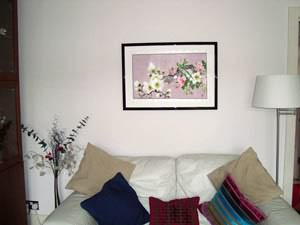 framed flower painting