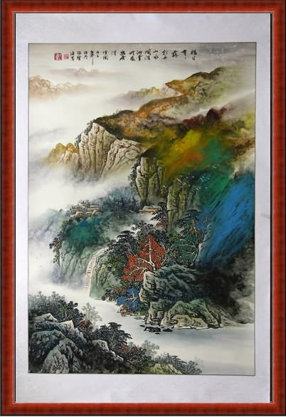 How To Display A Chinese Painting Frame Mounted On Silk
