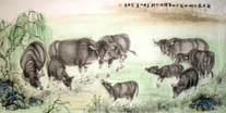 Chinese Cattle/Ox/Bull/Cow Paintings
