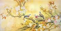 Chinese Cherry Blossom Paintings