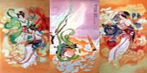 Chinese Flying Apsaras Painting
