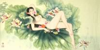 Chinese Nude Girl Painting