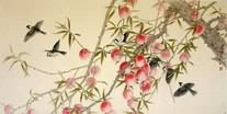 Chinese Peach Painting