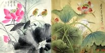 Chinese Lotus Paintings