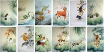 Chinese Zodiac Animals Paintings