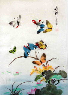 Chinese Insects Painting,30cm x 40cm,2336140-x