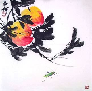 Chinese Insects Painting,50cm x 50cm,2371021-x