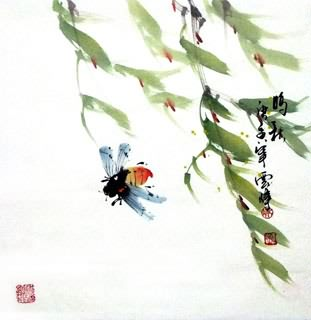 Chinese Insects Painting,40cm x 40cm,2408005-x