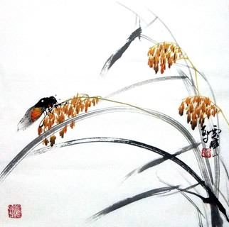 Chinese Insects Painting,40cm x 40cm,2408007-x