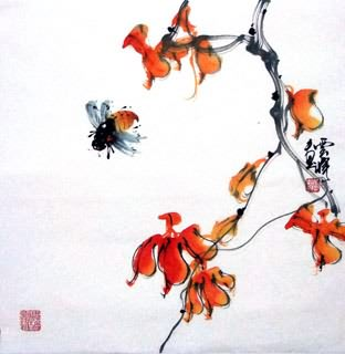 Chinese Insects Painting,40cm x 40cm,2408008-x