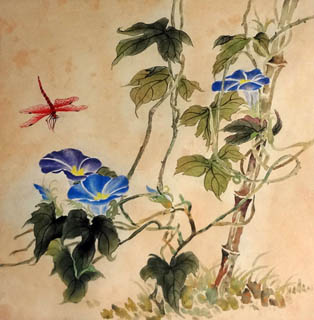 Chinese Insects Painting,33cm x 33cm,2421011-x