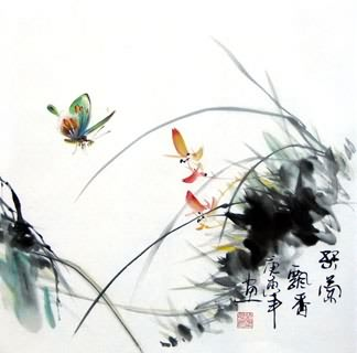Chinese Insects Painting,33cm x 33cm,2572002-x