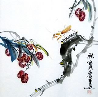 Chinese Insects Painting,33cm x 33cm,2572003-x