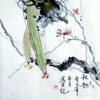 Chinese Insects Painting,33cm x 33cm,2572011-x