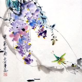Chinese Insects Painting,33cm x 33cm,2572013-x