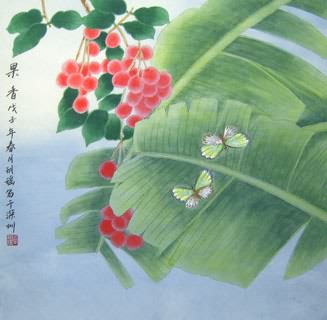 Chinese Insects Painting,66cm x 66cm,2603018-x
