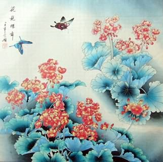 Chinese Insects Painting,69cm x 69cm,2603020-x