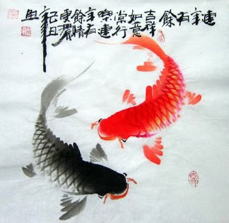 Page 23 chinese fish paintings chinese scroll with fishes from china for Chinese coy fish