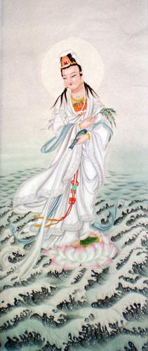 chinese kuan yin painting 3803001 40cm x 98cm16 x 38