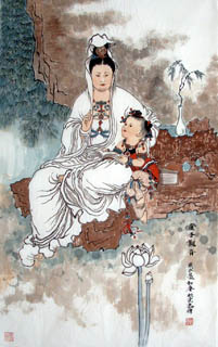 Lou Xin Yun Chinese Painting 3808002