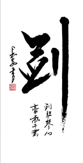 Chinese Kung Fu Calligraphy,50cm x 100cm,5908030-x